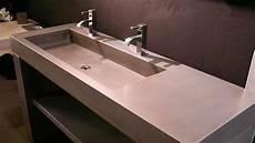 2 en 1 lavabo beton salles de bain plan vasque vasque