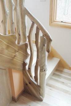 handrail banister or railing in driftwood