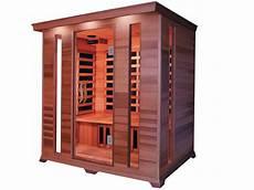 cabine de sauna cabine de sauna infrarouge quot luxe quot 4 places 190 x 175 x 120
