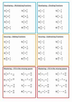 fraction worksheets tes 4113 fractions using all four operations teaching resources