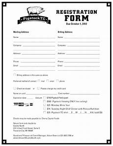 registration forms template free clergy coalition