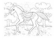 ausmalbild prinzessin pferd schloss malbild