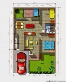 29 Gambar Contoh Denah Rumah 1 Lantai Ukuran 6 X 10