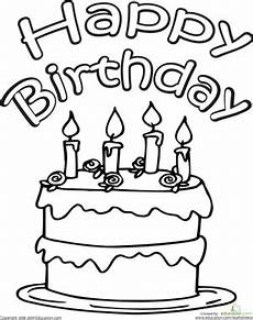 birthday cake printable worksheets 20255 color the happy birthday cake with images birthday coloring pages happy birthday coloring