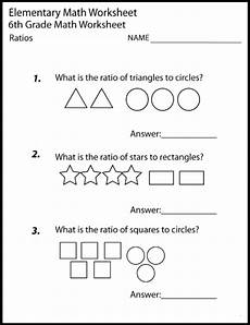 year sixth 6th grade math worksheets printable