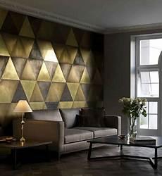 papier peint tendance salon красивые золотые обои для стен роль в интерьере выбор