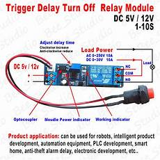 dc 5v 12v timing timer delay turn off switch time relay module 1 10s adjustable ebay