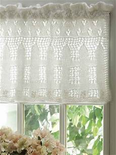 Picket Fence Lace Valance Free Knitting Pattern