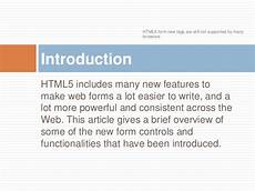 html 5 new form attribute