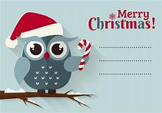 merry christmas card with cute owl and a place for text stock vector image 47532090