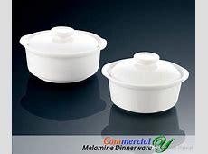 Soup Bowls Cups Set Melamine Dinnerware with Lid Handles