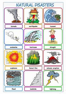 nature and weather worksheets 15158 disasters picture dictionary worksheet free esl printable worksheets made by teachers