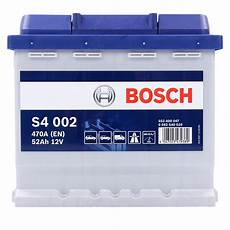 Bosch Starterbatterie S4 002 52ah 470a 12v