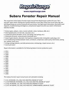 automotive repair manual 1998 subaru forester user handbook subaru forester repair manual 1998 2011