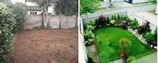 Ein Geschlossener Hinterhof Mit Bl 252 Henden Pflanzen