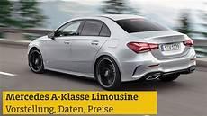 Mercedes A Klasse Limousine Vorstellung Daten Preise