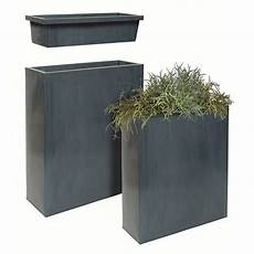 bac à fleurs bac 224 fleurs acier l80 h92 cm noir gamm vert