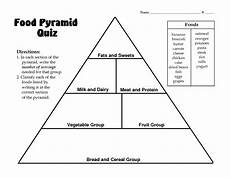 food pyramid quiz lesson plan for 3rd 4th grade lesson