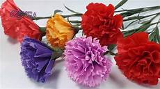 how to make paper carnation flowers from crepe paper
