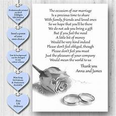 Gift Poems For Weddings pack of 50 x wedding poem cards for your invitations