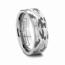 mens camouflage wedding band flat tungsten carbide 6mm 8mm gigatags