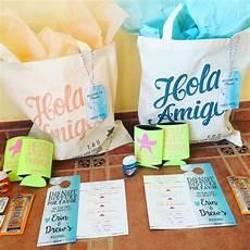 aloha welcome bags for a destination wedding in mexico destination wedding decor destination