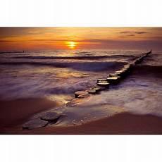 tableau coucher de soleil sur la mer home photo deco