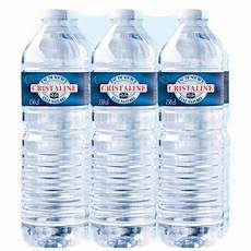 eau de source cristaline cristaline les 6 bouteilles de