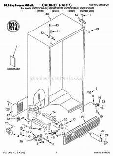 Kitchenaid Parts Order by Kitchenaid Kscs25fkss02 Parts List And Diagram