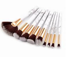 glowii 9pcs marble style handle makeup brush set colour