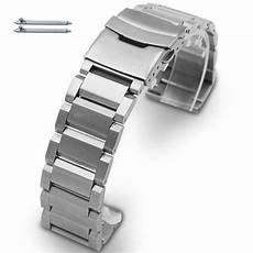 Stainless Steel Band Replacement by Hamilton Compatible Stainless Steel Metal Bracelet