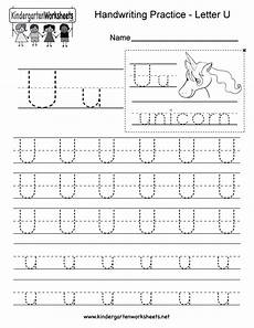 letter u handwriting worksheet for kindergarteners this series of handwriti writing practice