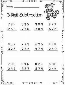 3 digit subtraction worksheets for 3rd grade 10570 3 digit addition and subtraction with regrouping addition subtraction math division