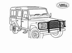 coloring page lange rover