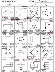 grade 5 geometry nets worksheets 828 identifying 3d shapes by their nets part 2 atividades de geometria atividades de compreens 227 o