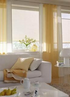wohnzimmer gardine sonnig gelb vielf 228 ltige plissees