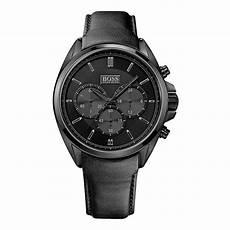 boss uhren herren schwarz hugo 1513061 herren chronograph in schwarz aus edelstahl
