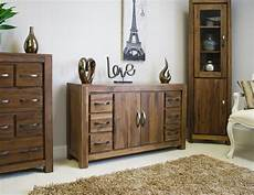 linea solid walnut home furniture large six drawer living