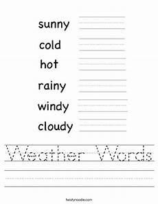 weather tracing worksheets 14689 weather words worksheet twisty noodle