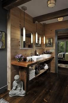 meuble salle de bain rustique les beaux exemples de salle de bain rustique 40 photos