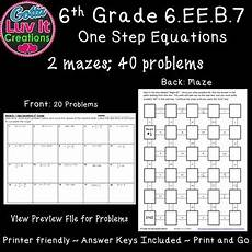 solving equations one step equations activity no negatives maze tpt
