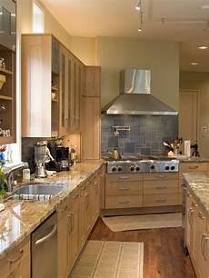 Kitchen Backsplash Ideas With Birch Cabinets by Birch Kitchen Slab Doors Oak Floors New Kitchen Ideas