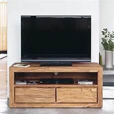Meuble Tv 2 Tiroirs En Sheesham Massif Librerie Idee