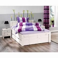Weiße Betten 140x200 - bett rufus 140x200 cm kiefer wei 223 lackiert d 228 nisches