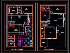 free autocad house plans dwg duplex house plans free download dwg 35 x60 autocad