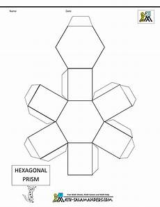 geometry nets worksheets 823 basic geometric shapes hexagonal prism net tabs 3d geometric shapes geometric shapes