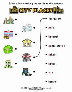 places around town worksheets 16029 social and sciences for grade 2016 17 places in the city worksheets for