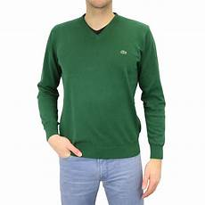 lacoste v neck pullover strickpullover baumwolle v