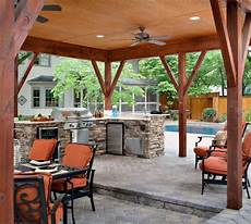Modern Outdoor Kitchen Designs Beautiful Dining Areas Roofs