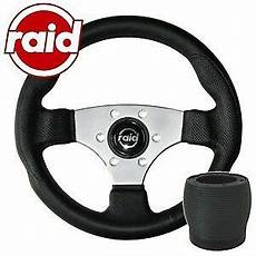 raid sportlenkrad mit nabe 320 mm silver edition vw